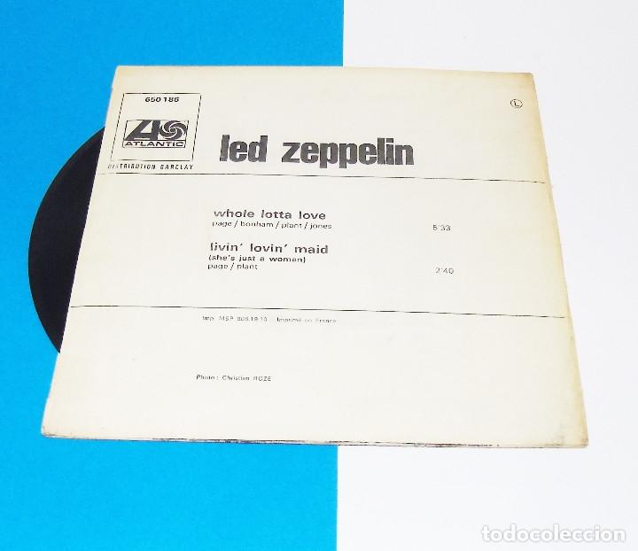 Discos de vinilo: LED ZEPPELIN --- WHOLE LOTTA LOVE / LIVIN´ LOVIN´ MAID ---- -ORIGINAL AÑO 1970 --ATANTIC BLY 650186 - Foto 2 - 150828490