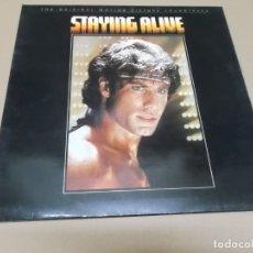 Discos de vinilo: STAYING ALIVE (LP) THE BEE GEES AÑO – 1983 – PORTADA ABIERTA. Lote 178610613