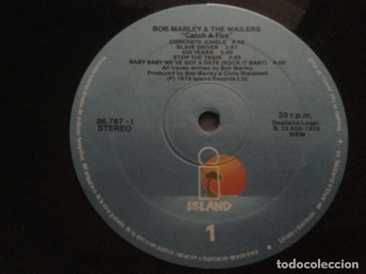 Discos de vinilo: Bob Marley- Catch a fire .1978 spain - Foto 4 - 178612880