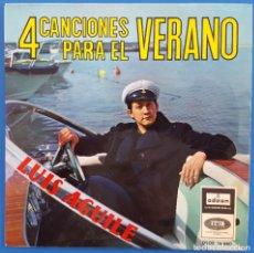 Discos de vinilo: EP / LUIS AGUILÉ 4 CANCIONES PARA EL VERANO / EN VERANO-UN BESO ES POCA COSA-HE NACIDO PARA TI 1965. Lote 178613176