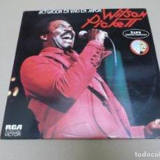 Discos de vinilo: WILSON PICKETT (LP) ACTUACION EN VIVO EN JAPON AÑO – 1974 – DOBLE DISCO CON PORTADA ABIERTA - PROMOC. Lote 213380560