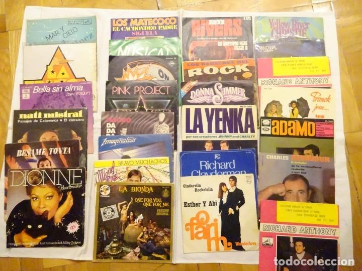LOTE 25 DISCOS VARIOS SINGLES EP´S, AZNAVOUR, ADAMO, J.RIVERS, BOSÉ, GURRUCHAGA,.. AÑOS 60, 70, 80 (Música - Discos de Vinilo - EPs - Otros estilos)