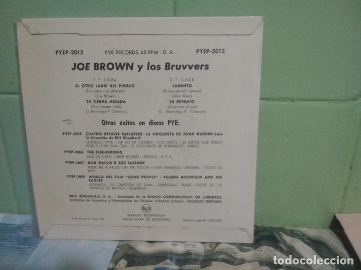 Discos de vinilo: JOE BROWN Y LOS BRUVVERS EL OTRO LADO DEL PUEBLO + 3 EP 1962 SPAIN PEPETO TOP - Foto 2 - 178626880