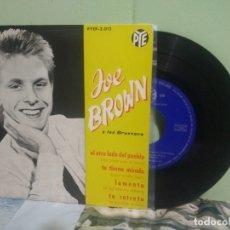 Discos de vinilo: JOE BROWN Y LOS BRUVVERS EL OTRO LADO DEL PUEBLO + 3 EP 1962 SPAIN PEPETO TOP. Lote 178626880