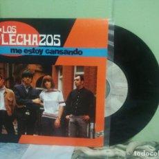 Discos de vinilo: LOS FLECHAZOS ME ESTOY CANSANDO SINGLE SPAIN 1992 PEPETO TOP. Lote 178627282