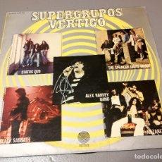Discos de vinilo: NUMULITE LP069 SUPERGRUPOS VERTIGO STATUS QUO NARATEH BLACK SABBATH …. Lote 178632783