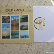 Discos de vinilo: LP DE HABANERAS ,GRUP GAVINA ,QUAN PENSO EN TU. Lote 178637161