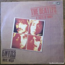 Discos de vinilo: THE BEATLES. A TASTE OF HONEY. MELODIYA, C60 23581 008, RUSIA. 1986. FUNDA VG+ DISCO VG++. Lote 178637545
