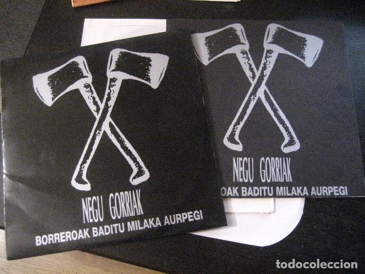 NEGU GORRIAK BORREROAK BADITU MILAKA AURPEGI DISCO DOBLE CON LETRAS (Música - Discos - LP Vinilo - Punk - Hard Core)
