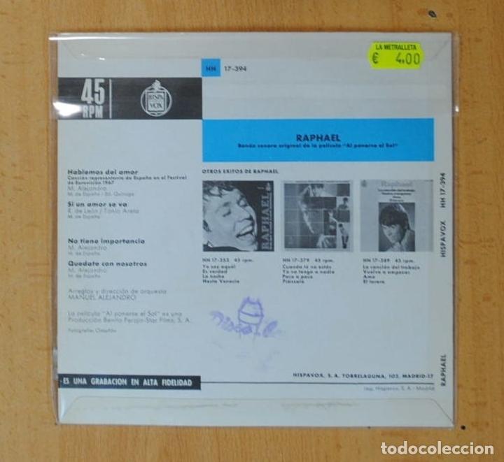 Discos de vinilo: RAPHAEL - EUROVISION 67 - HABLEMOS DEL AMOR + 3 - EP - Foto 2 - 178640675