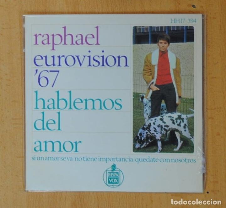 RAPHAEL - EUROVISION 67 - HABLEMOS DEL AMOR + 3 - EP (Música - Discos de Vinilo - EPs - Festival de Eurovisión)