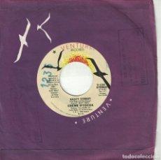 Discos de vinilo: CREME D'COCOA - BABY, PLEASE DON'T GO / NASTY STREET (SINGLE USA, VENTURE RECORDS 1980). Lote 178642847