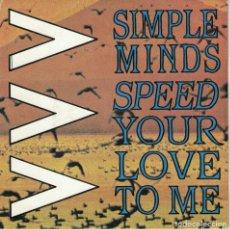 Discos de vinilo: SIMPLE MINDS - SPEED YOUR LOVE TO ME / BASS LINE (SINGLE ESPAÑOL, VIRGIN 1983). Lote 178652926
