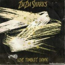 Discos de vinilo: ZU ZU SHARKS - LOVE TUMBLES DOWN / WHEN THE HAMMER FALLS (SINGLE ESPAÑOL, EMI 1983). Lote 178655176