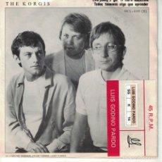 Discos de vinilo: THE KORGIS - EVERYBODY'S GOT TO LEARN SOMETIME / DUM WAITERS (SINGLE ESPAÑOL, RIALTO RECORDS 1981). Lote 178659817