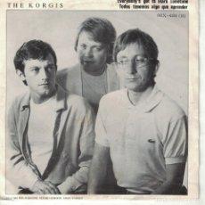 Discos de vinilo: THE KORGIS - EVERYBODY'S GOT TO LEARN SOMETIME / DUM WAITERS (SINGLE ESPAÑOL, RIALTO RECORDS 1981). Lote 178661216