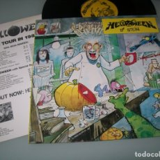 Discos de vinilo: HELLOWEEN - DR. STEIN ..LP DE 1988 - NOISE INTERNATIONAL - LONDON - SE INCLUYEN LETRAS. Lote 178667627