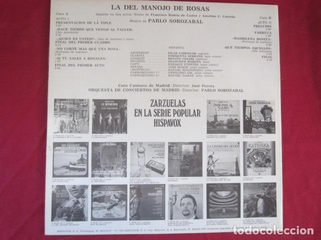 Discos de vinilo: PABLO SOROZABAL - LA DEL MANOJO DE FLORES - Foto 3 - 178669376