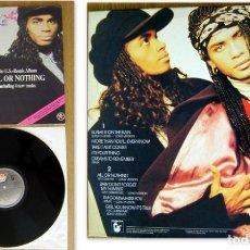 Discos de vinilo: LP ALBUM MINNI VANILI. ALL OR NOTHING 1989. Lote 178672001