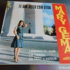 Discos de vinilo: MARY GEMA, EP, TE HAN VISTO CON OTRA + 3, AÑO 1964. Lote 178678217