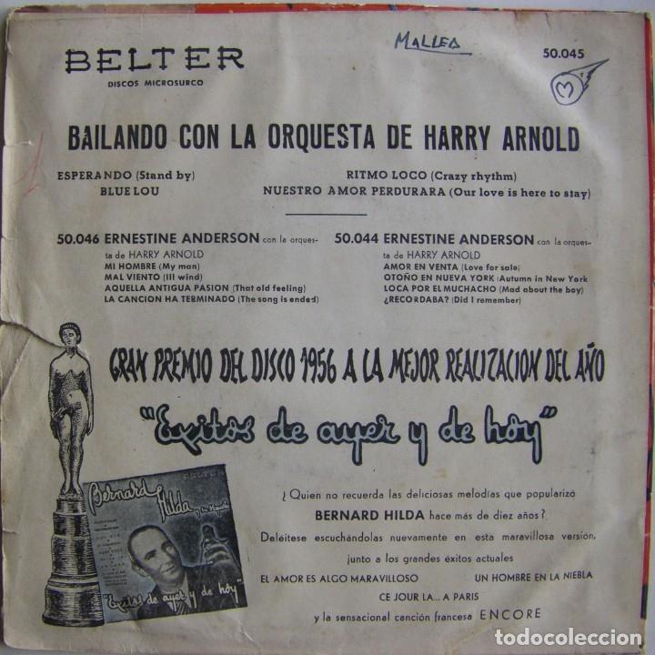 Discos de vinilo: Harry Arnold Y Su Orquesta-Bailando Con La Orquesta De Harry Arnold, Belter 50.045 - Foto 2 - 178685402