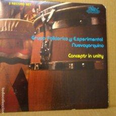 Discos de vinilo: GRUPO FOLKLORICO Y EXPERIMENTAL NUEVAYORQUINO -FEATURING JERRY GONZALEZ-2LP.S. Lote 178709618