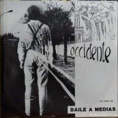 Discos de vinilo: OCCIDENTE - BAILE A MEDIAS / INTERIORES SG PROMO ED. ESPAÑOLA 1987. Lote 178713760