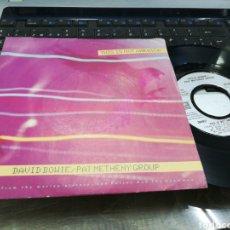 Discos de vinilo: DAVID BOWIE SINGLE THIS IS NOT AMERICA FRANCIA 1985. Lote 178716833