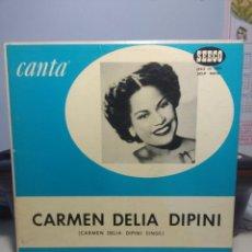 Discos de vinilo: LP CARMEN DELIA DIPINI : CANTA ( SINGS ) EDICION SEECO, NEW YORK. Lote 178717132