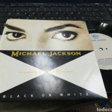 Discos de vinilo: MICHAEL JACKSON SINGLE BLACK OR WHITE HOLANDA 1991. Lote 178717727