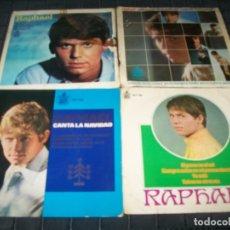 Discos de vinilo: RAPHAEL - LOTE DE 4 EP´S AÑOS 60 , ESUVE ENAMORADO, AL PONERSE EL SOL... ETC. Lote 178721861