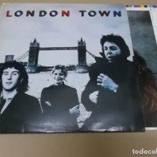 Discos de vinilo: PAUL MCCARTNEY & WINGS (LP) LONDON TOWN AÑO – 1978 – ENCARTE INTERIOR + POSTER DESPLEGABLE. Lote 178724973