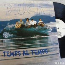 Discos de vinilo: DIUCA - TEMPS AL TEMPS -LP 1993 -BUEN ESTADO. Lote 178725665