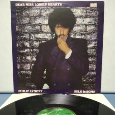 Discos de vinilo: PHILIP LYNOTT - DEAR MISS LONELY HEARTS ED UK 1980 / PHIL LYNOTT THIN LIZZY. Lote 178730191