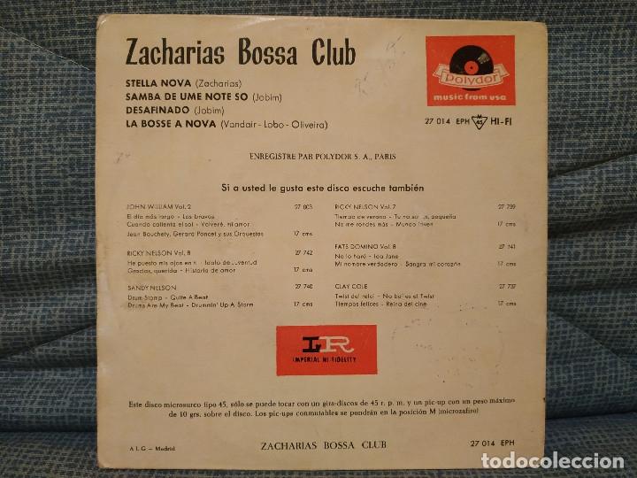 Discos de vinilo: ZACHARIAS BOSSA CLUB - STELLA NOVA / SAMBA DE UME NOTE SO / DESAFINADO / LA BOSSE A NOVA AÑO 1963 - Foto 2 - 178743913
