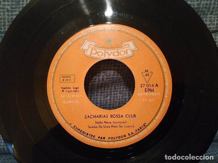 Discos de vinilo: ZACHARIAS BOSSA CLUB - STELLA NOVA / SAMBA DE UME NOTE SO / DESAFINADO / LA BOSSE A NOVA AÑO 1963 - Foto 3 - 178743913