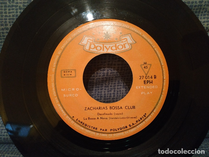 Discos de vinilo: ZACHARIAS BOSSA CLUB - STELLA NOVA / SAMBA DE UME NOTE SO / DESAFINADO / LA BOSSE A NOVA AÑO 1963 - Foto 4 - 178743913