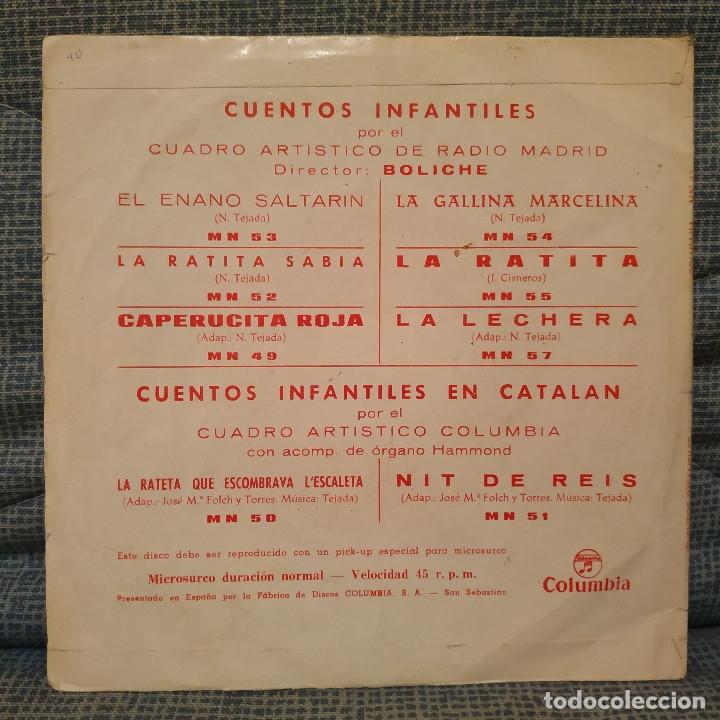 Discos de vinilo: CUENTOS INFANTILES - EL ENANO SALTARIN (CUADRO ARTISTICO DE RADIO MADRID) SINGLE COLUMBIA DE 1964 - Foto 2 - 178744430