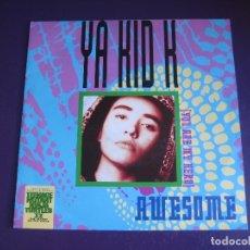 Discos de vinilo: YA KID K SG EMI 1991 - AWESOME (YOU ARE MY HERO) +1 BSO TORTUGAS NINJA - RAP HIP HOP ELECTRONICA. Lote 178751475