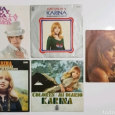 Discos de vinilo: LOTE 5 SINGLES KARINA 7 PULGADAS. Lote 178752501
