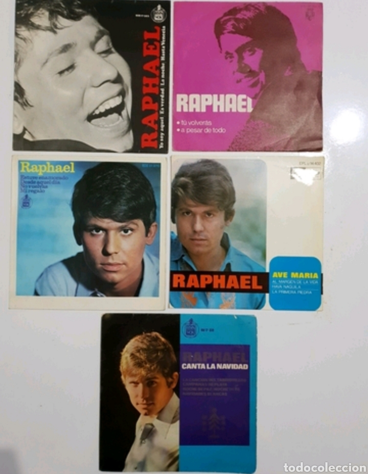 LOTE 5 SINGLES RAPHAEL - 7 PULGADAS (Música - Discos - Singles Vinilo - Solistas Españoles de los 70 a la actualidad)