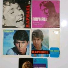 Discos de vinilo: LOTE 5 SINGLES RAPHAEL - 7 PULGADAS. Lote 178752666