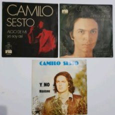 Discos de vinilo: LOTE 3 SINGLES CAMILO SEXTO - 7 PULGADAS. Lote 178752920