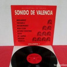 Discos de vinilo: SONIDO DE VALENCIA VOLUMEN 1 MEGABEAT TEKNIKA INTERFRONT BOA CLUB VODEVIL LP 1991 TECNO INDUSTRIAL . Lote 178753220