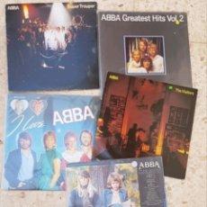 Discos de vinilo: LOTE 5 VINILOS ABBA DISCOS LPS. Lote 178754665