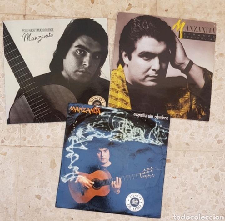 LOTE 3 LPS VINILOS MANZANITA (Música - Discos - LP Vinilo - Cantautores Españoles)
