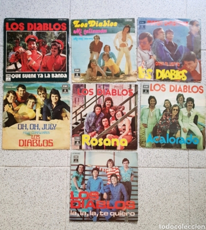 LOTE 7 SINGLES LIS DIABLOS - 7 PULGADAS (Música - Discos - Singles Vinilo - Grupos Españoles de los 70 y 80)