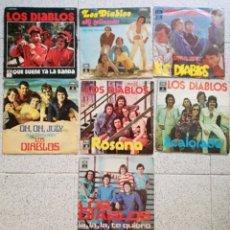 Discos de vinilo: LOTE 7 SINGLES LIS DIABLOS - 7 PULGADAS. Lote 178758585
