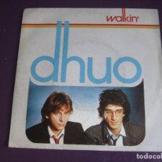 Discos de vinilo: DHUO SG CGD 1984 - WALKIN' +1 - ELECTRONICA DISCO ITALODISCO 80'S - SYNTH POP . Lote 178760501