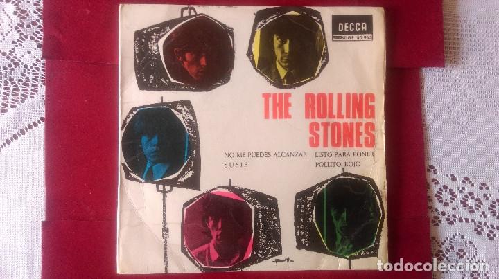 AB-619.- DISCO - EP- THE ROLLING STONES , DECCA 80965, NO ME PUEDES ALCANZAR, SUSIE, LISTO PARA PONE (Música - Discos de Vinilo - EPs - Pop - Rock Extranjero de los 50 y 60)